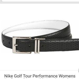 NWT NIKE reversible leather belt Black/white
